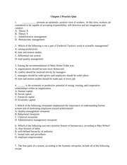 Ch.2 Management Theory Practice Quiz