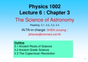 Lecture 06 The Science of Astronomy
