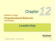 robbins-organization behaviour-chapter 12 - Part 1