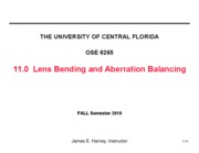 11.0 Lens Bending & Aberration Balancing