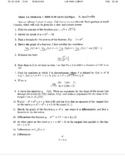 Math 1A - Fall 2005 - Borcherds - Midterm 1