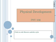 brain and physical development