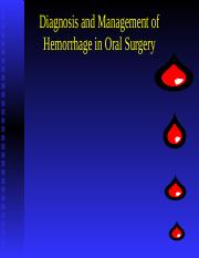 Hemorrage in oral surgery