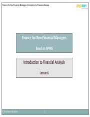FNFM_lesson 6_Introduction to Financial Analysis_V1.0