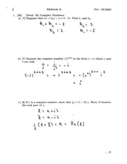 MATH 133 Fall 2010 Midterm Exam Solutions
