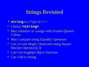 lect08 Strings and Input Failure