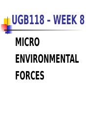 UGB118 Week 8 Micro Environmental Forces 2014.ppt