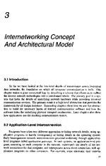 Internetworking Chapter 3 - Concept & Architectural Model