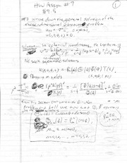 Homework 7 Solution  on Mathematical Methods in Science and Engineering 2