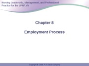 Anderson Ch 8 Employment Process