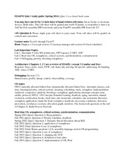 Quiz 1 Study Guide Spring 2014