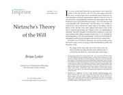 Nietzsche's Theory of the Will