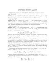 Math 1B - Spring 2013 - Christ - Midterm 2A (practice solution)
