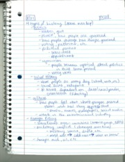 HY 318 Four Types of History Notes