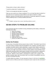 6. Problem Solving in Groups