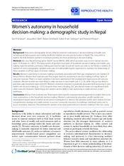 women autonomy in houshold
