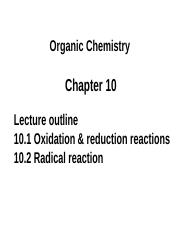 Student_Chapter 10.1 Oxidation and reduction reactions