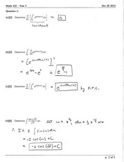 Math 122 Test #2 Version 2 Solutions