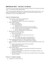 MKTG 3310 Section 2 Study Guide