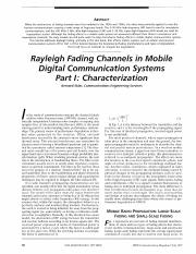 Rayleigh Fading Channels in Mobile Digital Communication Systems Part I-Characterization.pdf