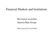 Lecture 15 - Interest rate swaps