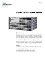 Aruba 2920 Series Switch