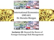 GMS 601 Foreign Exchange Risk Management