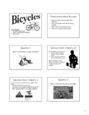 4.1 Bicycles