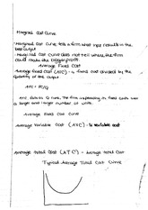 Marginal Cost Curve Notes Microeconomics