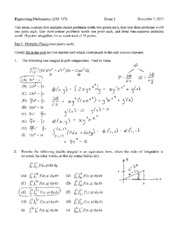 Fall 2011 Exam 3 Solutions