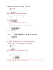 earth science quiz1