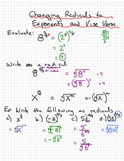Radicals to Exponents Notes