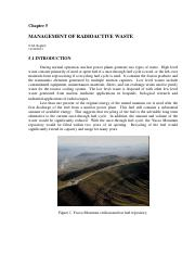 Management of Radiooactive Waste