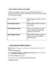 First Aid For Burns.doc