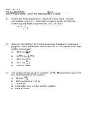 Calculus quiz 3.6 - 3.7 multiple choice (II).doc