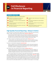 Chapter 24 Full Disclosure in Financial Reporting