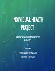 individual health project.pptx