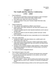 Chapter 17. The South and the Slavery Controversy