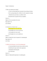 Spring 2013- Exam 2 Questions