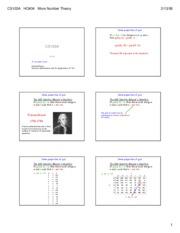 34 Slides--More Number theory