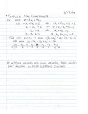 Study Guide on Simplex Max Constraints