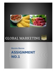 Global Marketing Strategies_Individual Assignment1