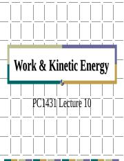 PC1431-2008-1-L10 Work and Kinetic Energy