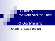 Lecture 7 - Market Failure and Government (Student)