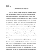 Adventures of King Ching