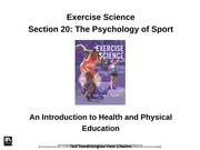 2.6 The Psychology of Sport
