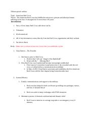 Tribute speech outline