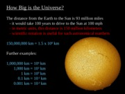 How Big is the Universe (PowerPoint)