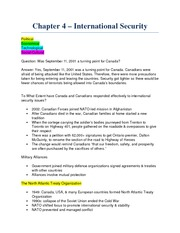 Note - Chapter 4 - International Security