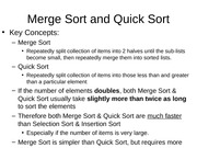 7.2 Merge Sort and Quick Sort